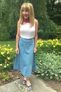 White-topshop-top-denim-michael-kors-skirt