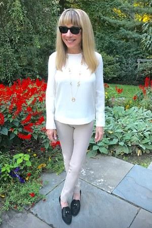 stone joseph pants - gold Marco Bicego necklace - winter white Polo top