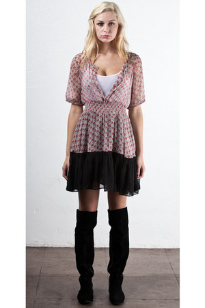 lulelly bud dress dress - over-knee-boots boots