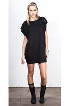Raden Combat boots shoes - Noir Sweater Dress dress