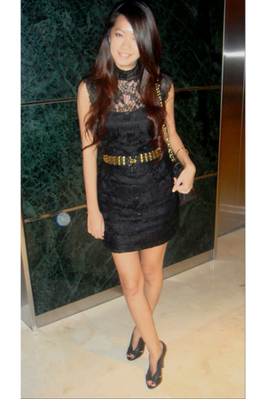 Forever21 dress - Zara shoes - Forever21 belt - Forever21 belt - Zara belt - Cha