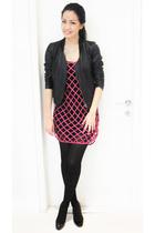 pink TopShop Unique dress - black Topshop dress