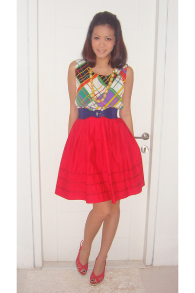 mitchybell top - Mango belt - Raoul skirt - Zara shoes - forever 21 necklace - t