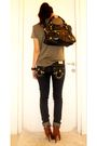 Green-zara-shirt-blue-true-religion-pants-brown-forever-21-shoes