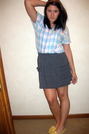 village discount top - American Apparel skirt - TOMS shoes