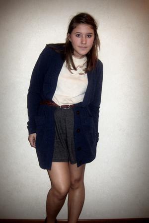 Nordstrom sweater - DIY shirt - moms old belt - American Apparel skirt - thrifte
