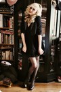 Black-lace-primark-dress-black-new-yorker-blazer-dark-brown-aldo-heels
