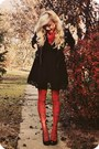 Black-jacket-ruby-red-tights