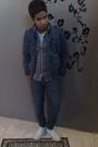 Blue-bossini-jacket-gray-bossini-shirt-blue-topman-jeans-white-converse-sh