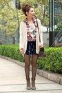 White-h-m-t-shirt-light-brown-suede-zara-boots-bubble-gum-shirt