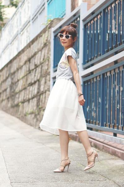 H&M necklace - aquamarine Jimmy Choo bag - light pink cat eye Fendi sunglasses