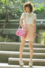 Light-pink-hairclip-h-m-accessories-cream-bbw-dress-bubble-gum-bag