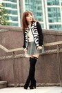 Black-suede-lace-up-boots-black-choies-jacket-white-cable-knit-h-m-sweater