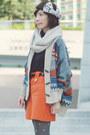 Beige-cardigan-black-turtleneck-h-m-sweater-off-white-scarf