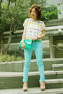 Aquamarine-h-m-bag-light-blue-h-m-pants-white-zara-top-aquamarine-belt