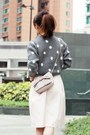 Heather-gray-polka-dots-local-store-sweater