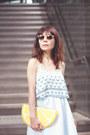 Yellow-lemon-clutch-monki-bag-lime-green-embellished-topshop-sunglasses