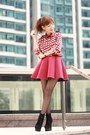 Black-suede-lace-up-boots-ruby-red-hearts-print-choies-shirt