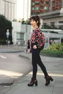 Maroon-lace-up-topshop-boots-navy-emoda-jeans-black-topshop-bag