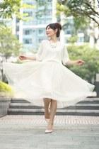 white sheer EMODA jumper - white H&M necklace