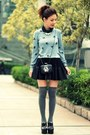 Black-jeffrey-campbell-shoes-light-blue-swallow-prints-sweater-black-bag