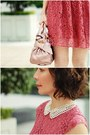 Coral-lace-h-m-dress-light-pink-bow-satchel-miu-miu-bag
