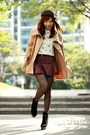 Black-suede-lace-up-boots-camel-cape-choies-coat