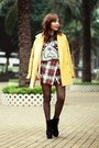 Black-suede-lace-up-boots-mustard-yellow-choies-coat
