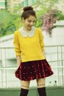 Mustard-knit-h-m-sweater-black-boots-black-hearts-tights