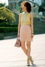 Light-yellow-forever-21-shirt-light-pink-bow-satchel-miu-miu-bag
