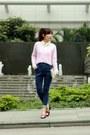 Blue-high-waisted-murua-jeans-bubble-gum-h-m-sweater