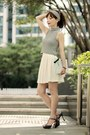 Light-blue-clutch-kate-spade-bag-black-hair-accessory-white-murua-skirt