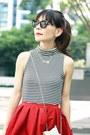 Silver-star-box-clutch-choies-bag-black-audrey-celine-sunglasses