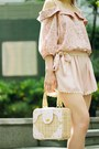 Shorts-mini-picnic-bag-bag-mary-janes-heels-blouse-accessories