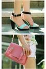 Collar-necklace-necklace-bubble-gum-satchel-bag-light-pink-h-m-shorts