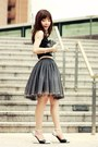 Black-bag-black-front-row-shop-skirt-silver-choies-wedges-white-necklace