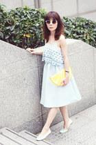yellow lemon clutch Monki bag - lime green embellished Topshop sunglasses