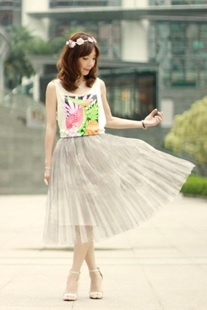 silver midi tulle skirt - light pink Accessorize hair accessory