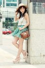 Tan-monki-hat-white-sleeveless-lace-sheinside-shirt