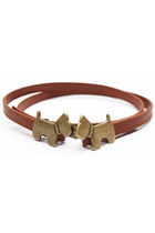 brown puppies belt belt
