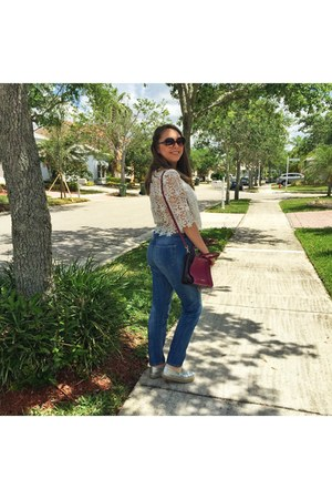 Forever 21 necklace - Steve Madden shoes - H&M jeans - Rebecca Minkoff bag