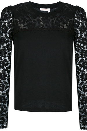 lace sleeve top farfetch top