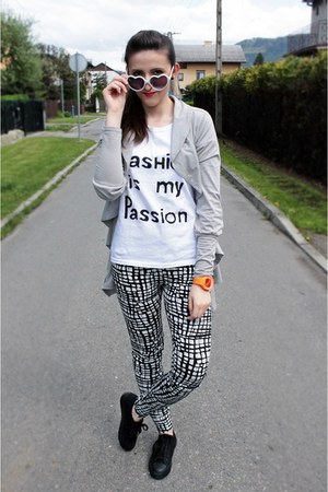 white Sinsay leggings - silver zoo york blazer