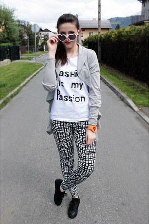 white Sinsay leggings - silver zoo york blazer