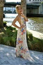 cream long Atik boutique dress