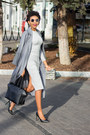 Heather-gray-romwe-dress-charcoal-gray-trench-sheinside-coat