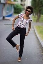 classic Oggi pants - crop Zara top - sandal Zara heels