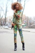 printed cotton kira plastinina suit - black contrast pu Boohoo boots