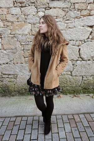 brick red vintage coat
