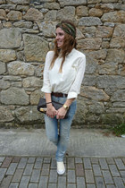 cream Bershka shirt